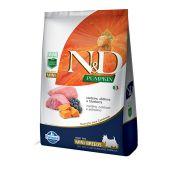 Ração Farmina N&D Pumpkin para Cães Adultos Raças Mini Sabor Cordeiro, Abóbora e Blueberry - 2,5Kg