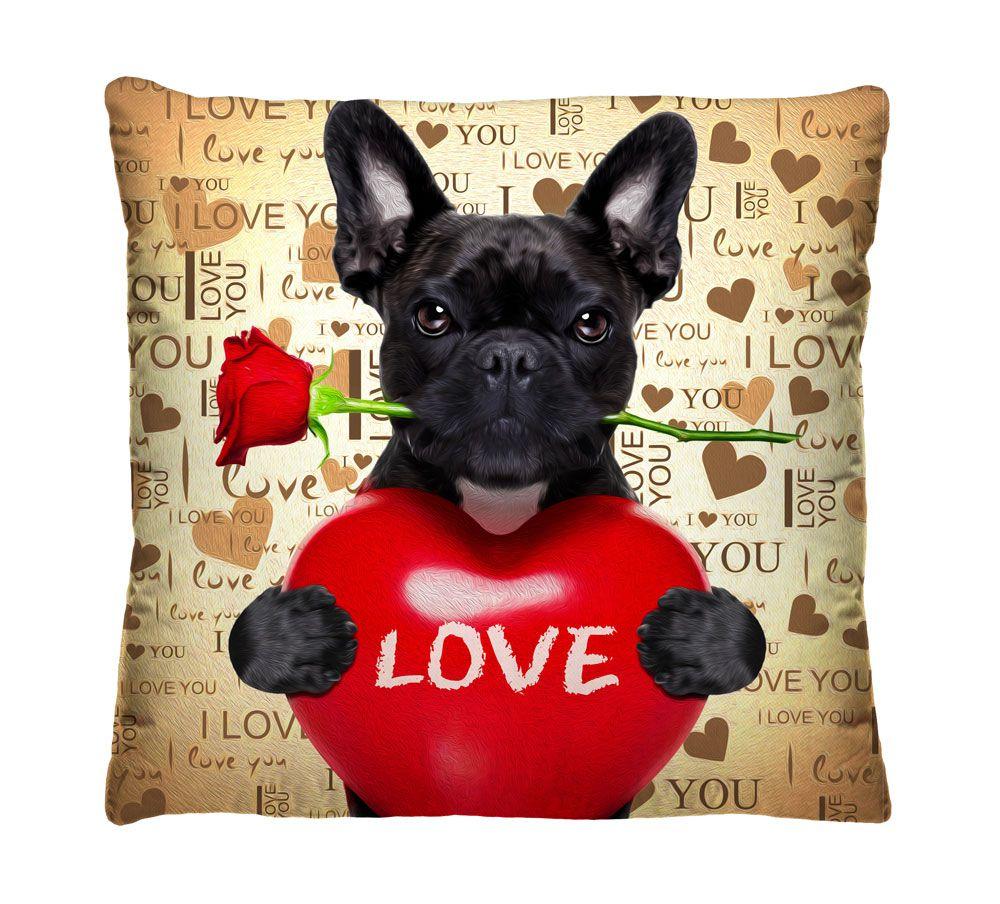 Almofada Bulldog Apaixonado