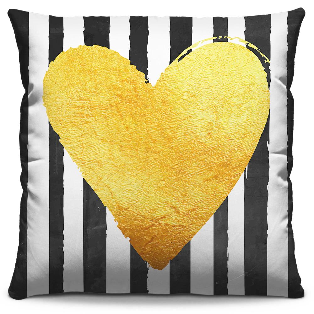 Almofada Coração Dourado