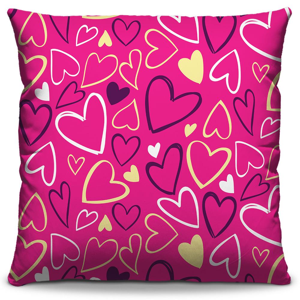 Almofada Corações Pink