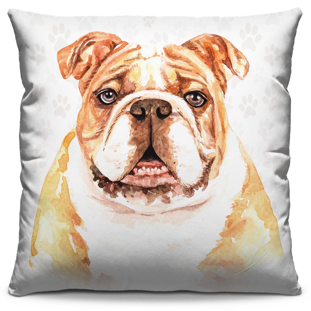 Almofada Desenho Bulldog Inglês