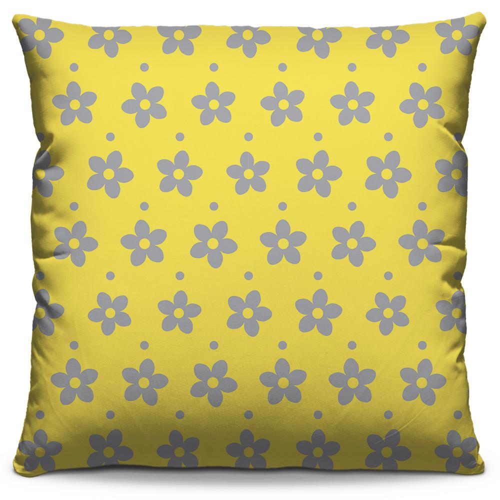 Almofada Flores Amarelo