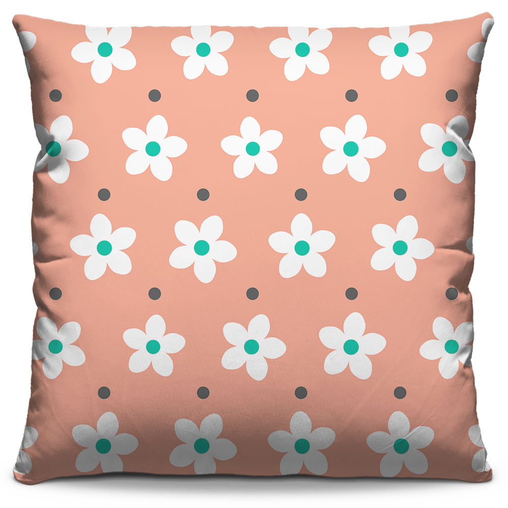 Almofada Flores Rosa