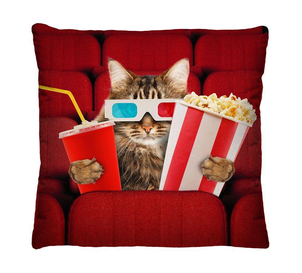 Almofada Gato no Cinema