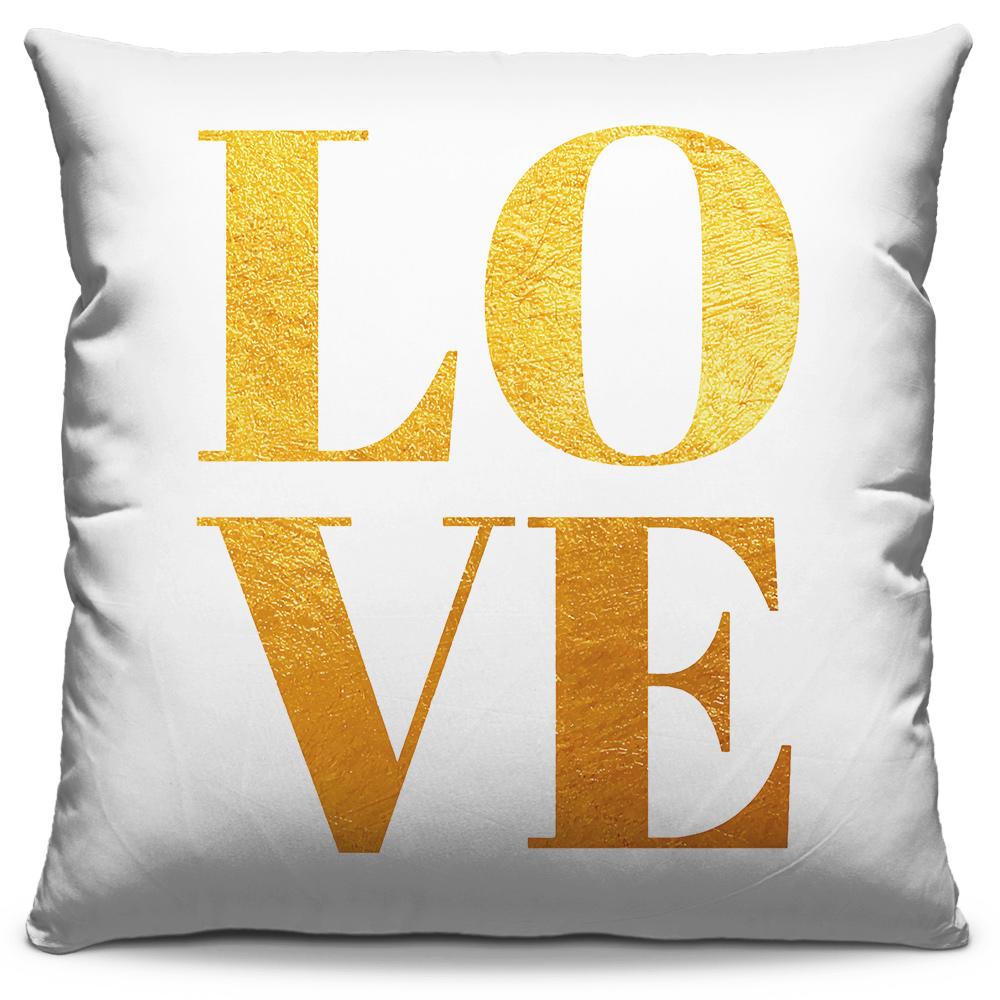 Almofada Love Dourado
