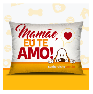 Almofada Travesseiro Mamãe Eu Te Amo