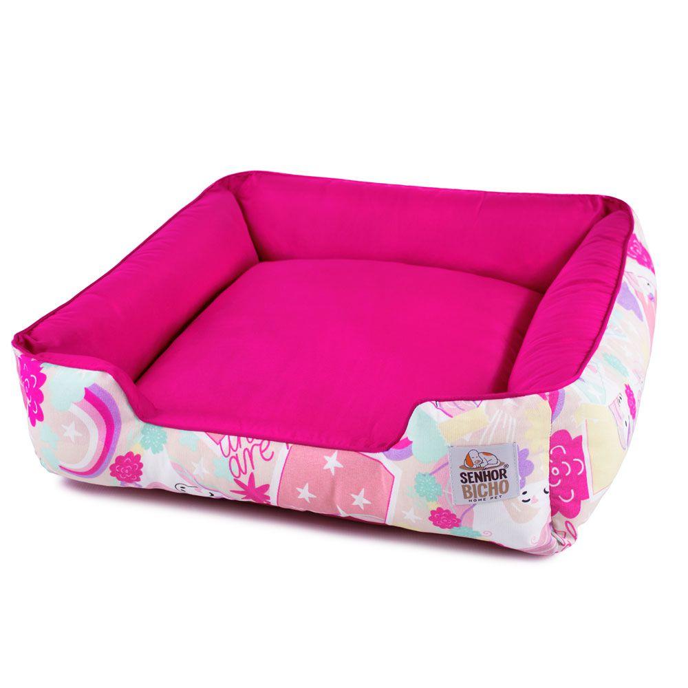 Enxoval Cama de Cachorro com Zíper Pandora - M - Unicórnio Pink