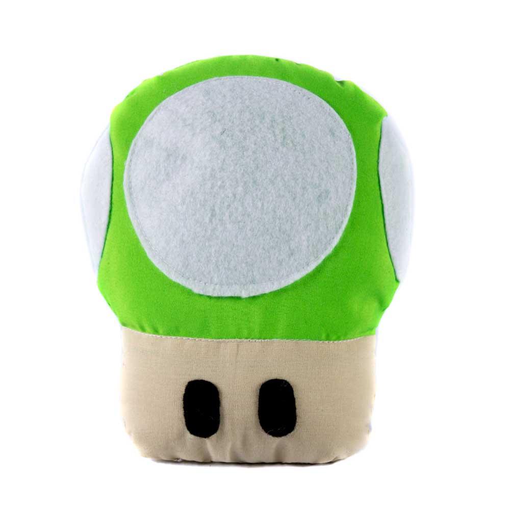 Brinquedo Almofada Pet Para Cachorro e Gato - Cogumelo Verde Mário