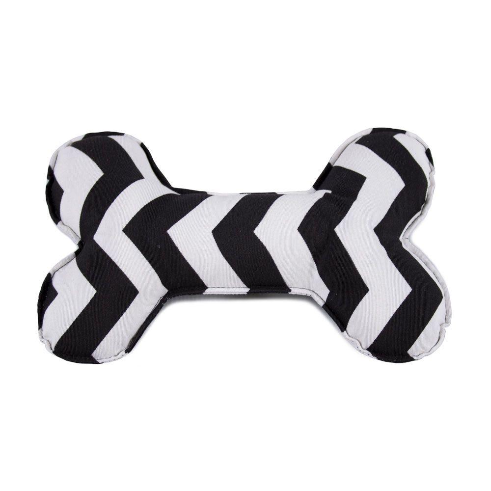 Brinquedo Osso Almofada Pet Para Cachorro - Chevron