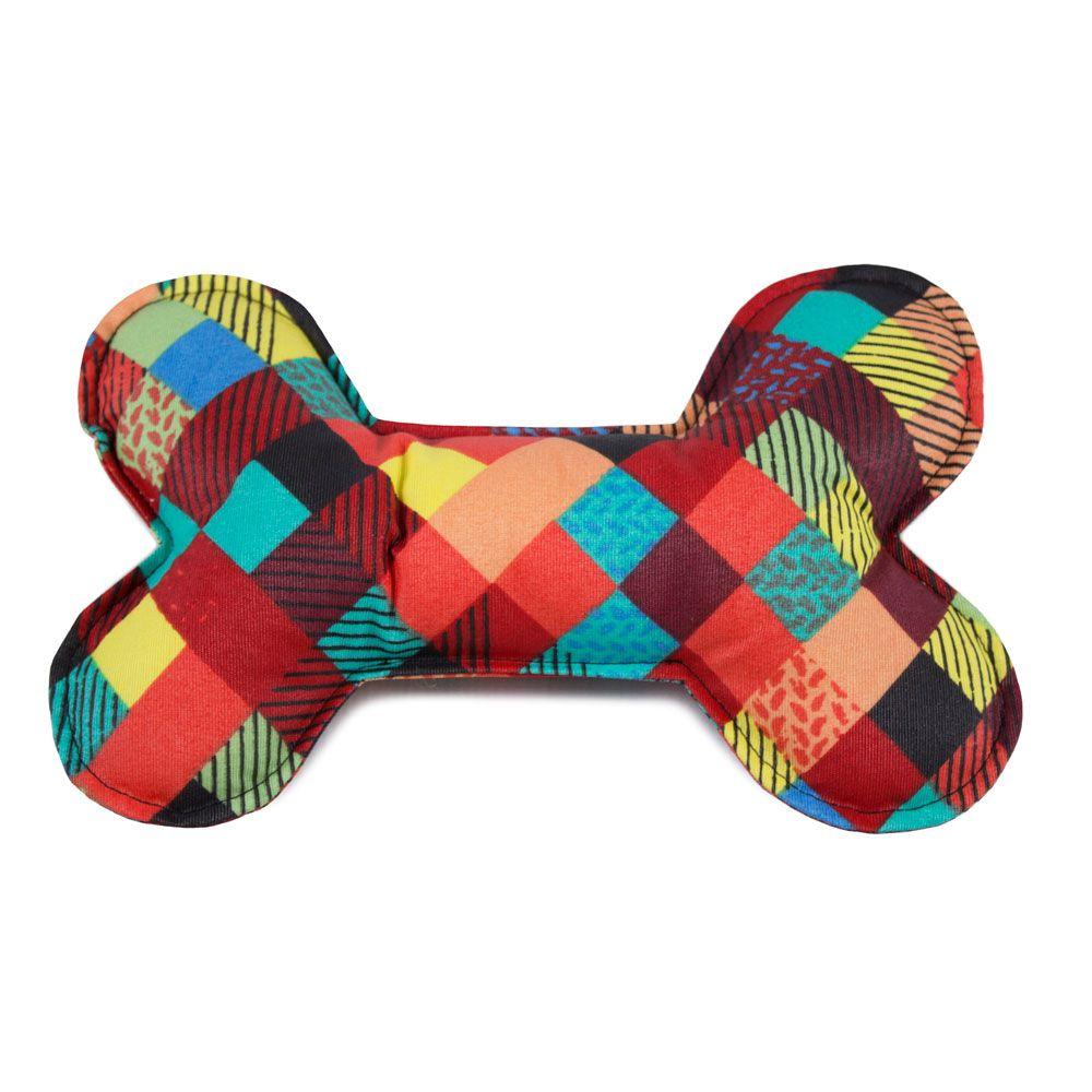 Brinquedo Almofada Ossinho Para Cachorro - Colors