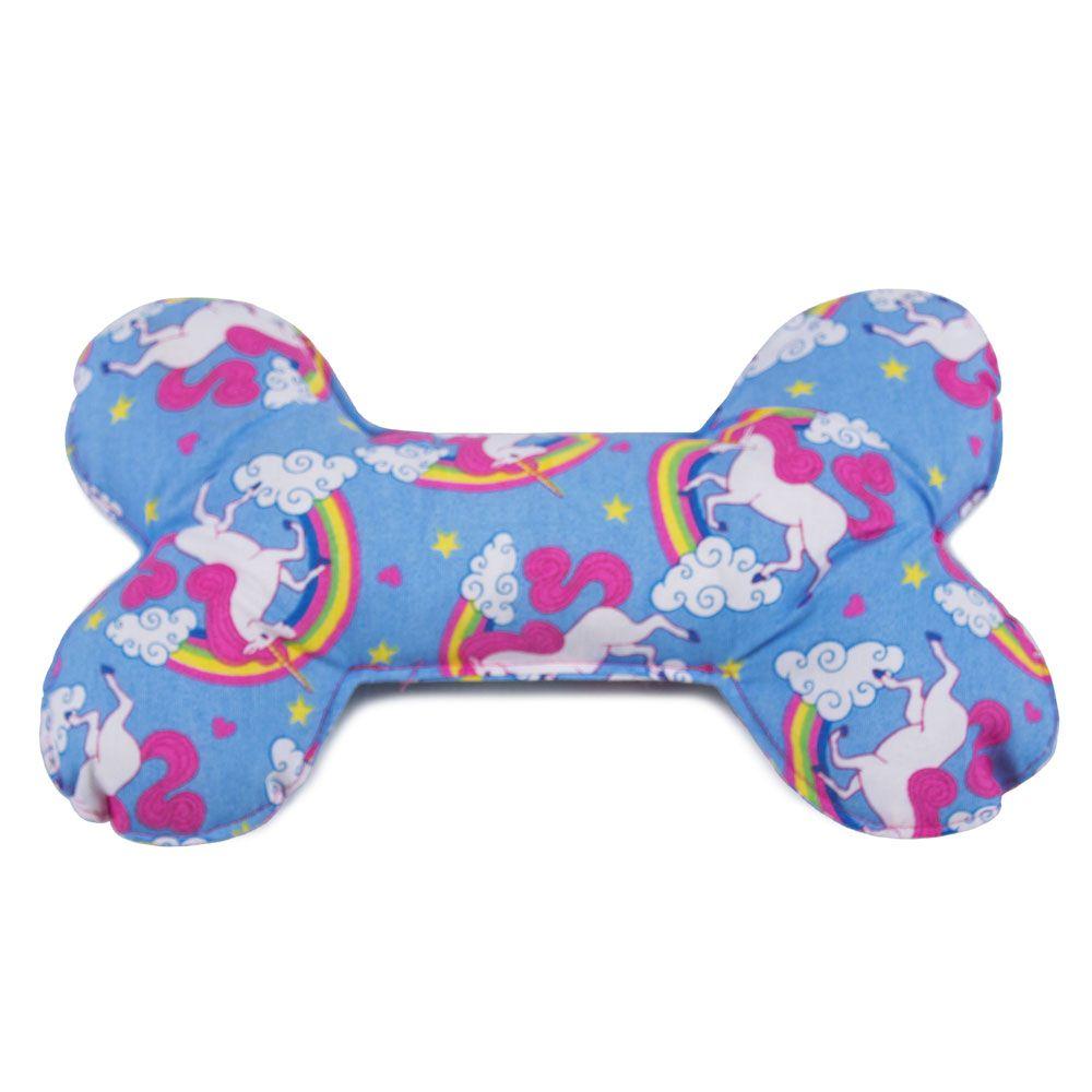 Brinquedo Almofada Pet Para Cachorro - Osso Unicórnio