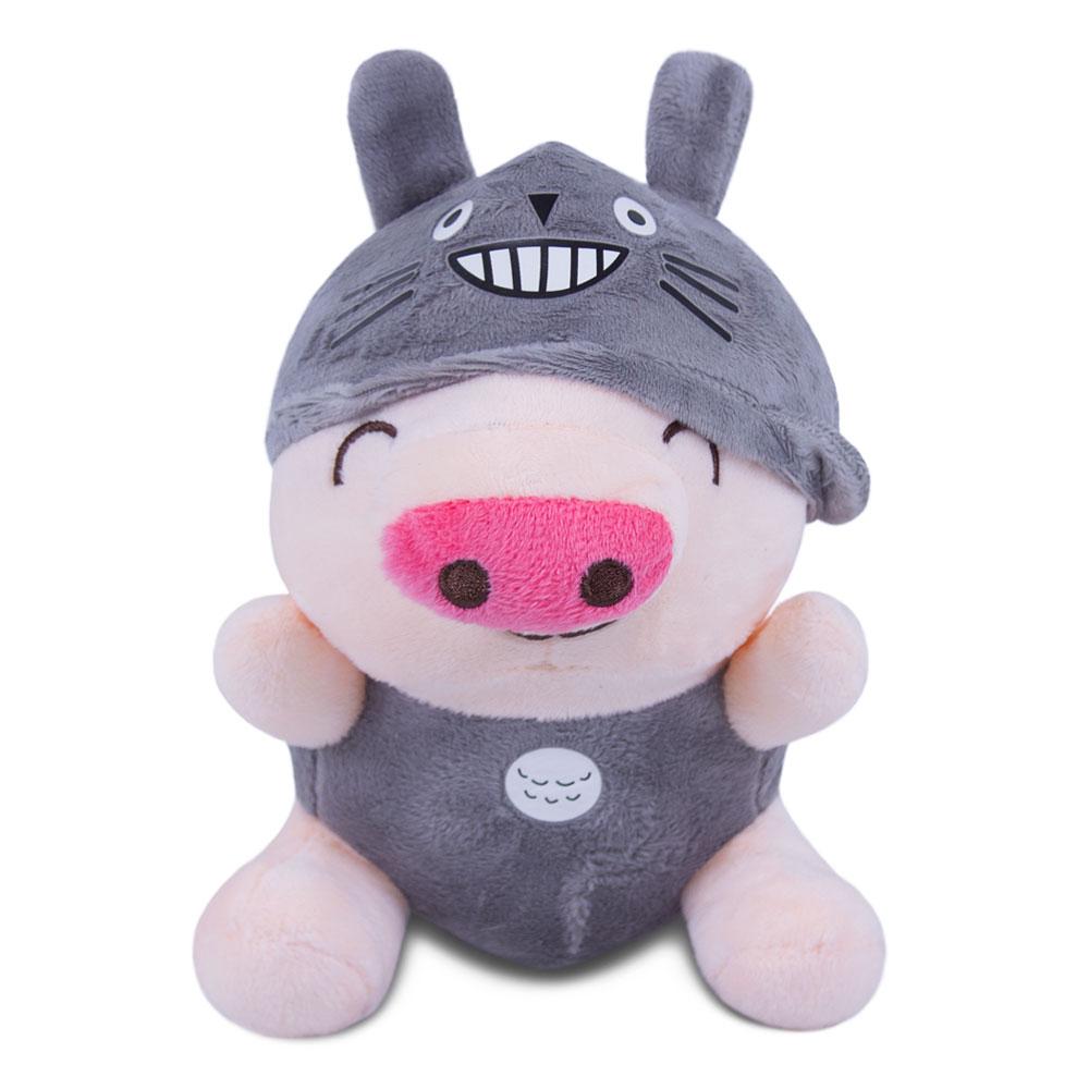 Brinquedo para Cachorro Pelúcia Porquinho Cinza