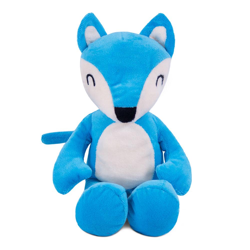 Brinquedo para Cachorro Pelúcia Raposinha Azul