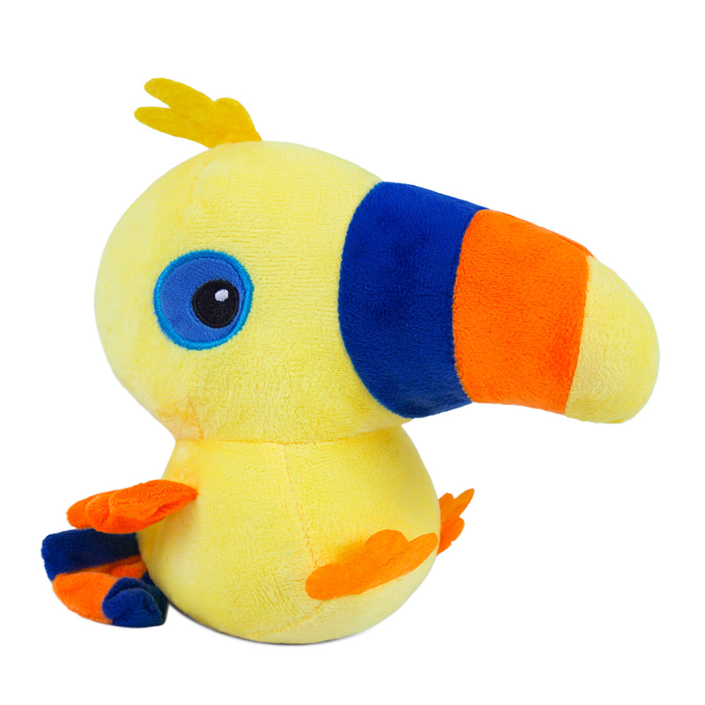 Brinquedo para Cachorro Pelúcia Tucano Amarelo