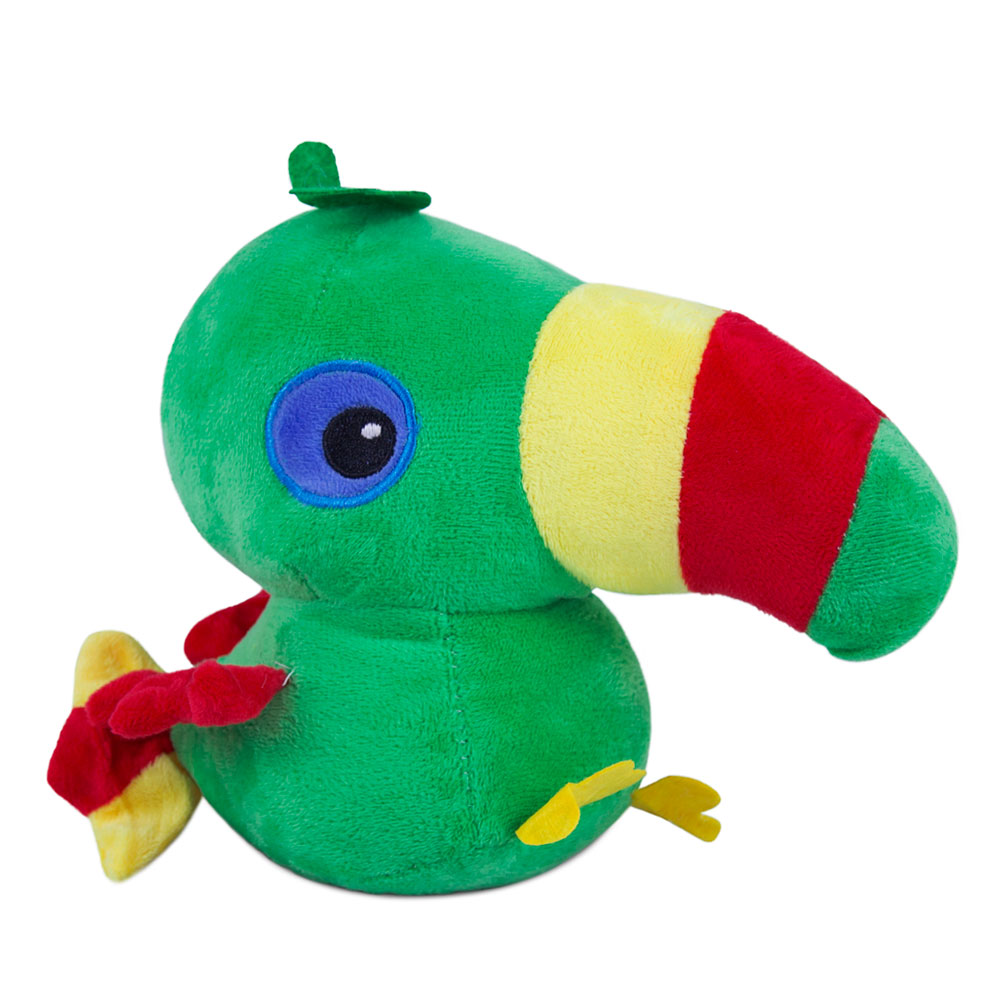 Brinquedo para Cachorro Pelúcia Tucano Verde