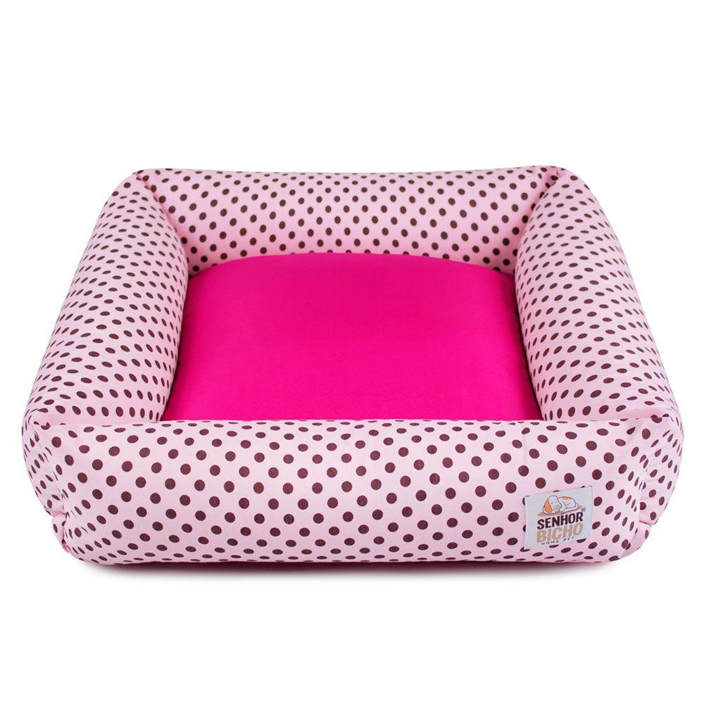 Cama de Cachorro com Zíper Hanna Especial 90x90 - Rosa Poá Pink