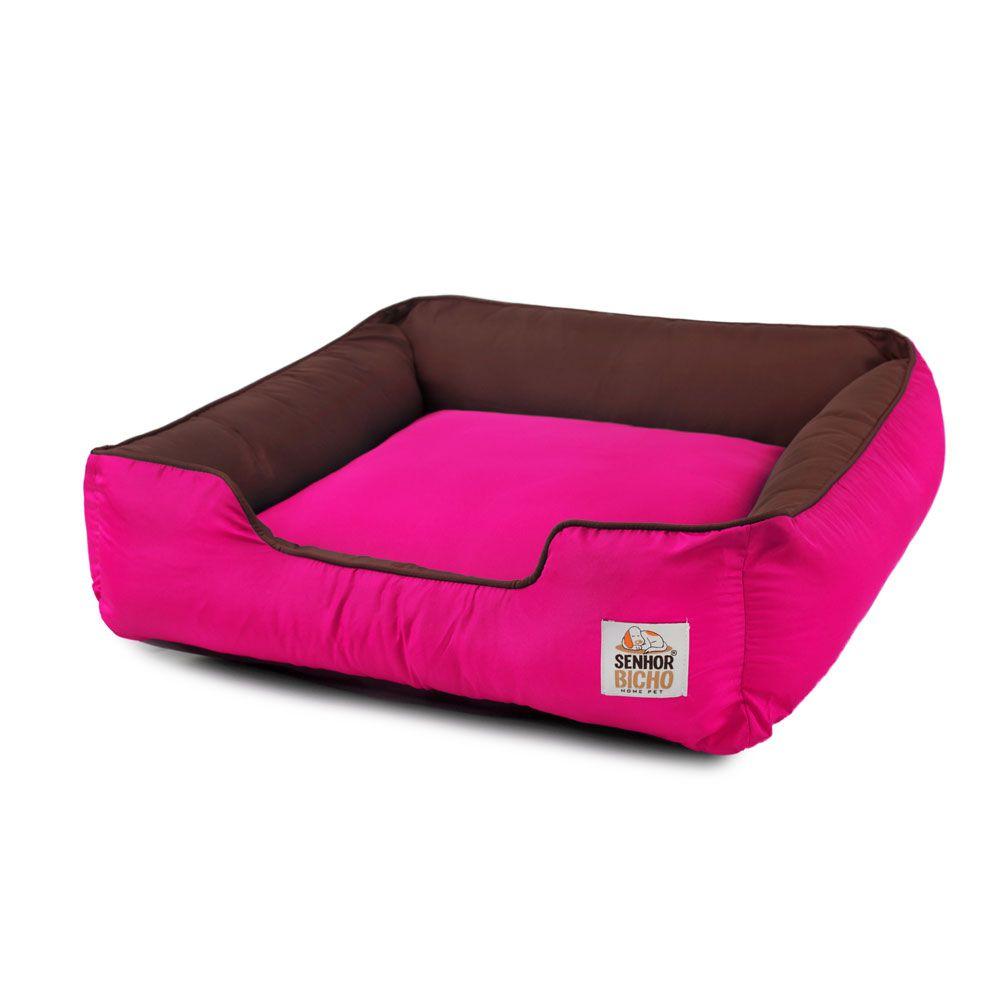 Cama de Cachorro com Zíper Pandora - G - Marrom Pink