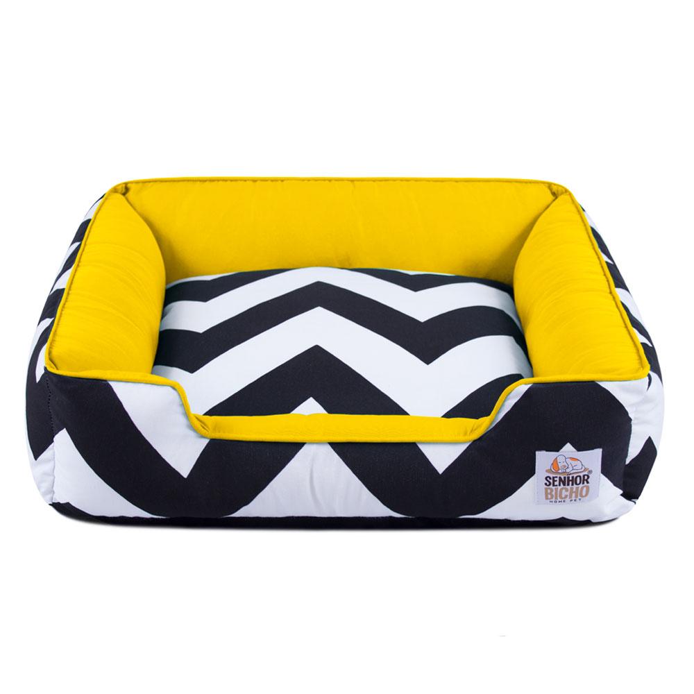 Cama de Cachorro com Zíper Pandora - G - ZigZag Amarelo