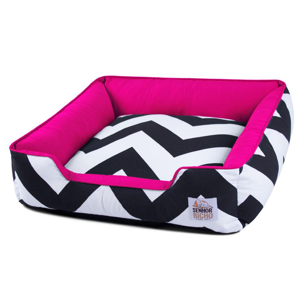 Cama de Cachorro com Zíper Pandora - G - ZigZag Pink