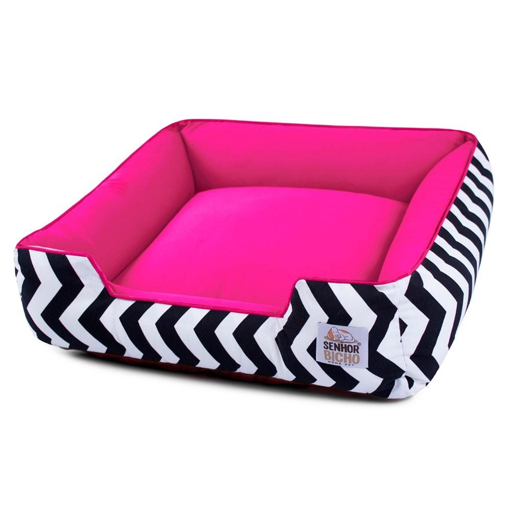 Cama de Cachorro com Zíper Pandora - GG - Chevron com Pink