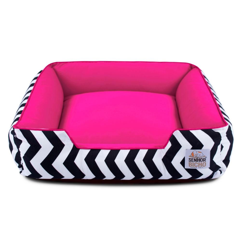 Cama de Cachorro com Zíper Pandora - M - Chevron com Pink