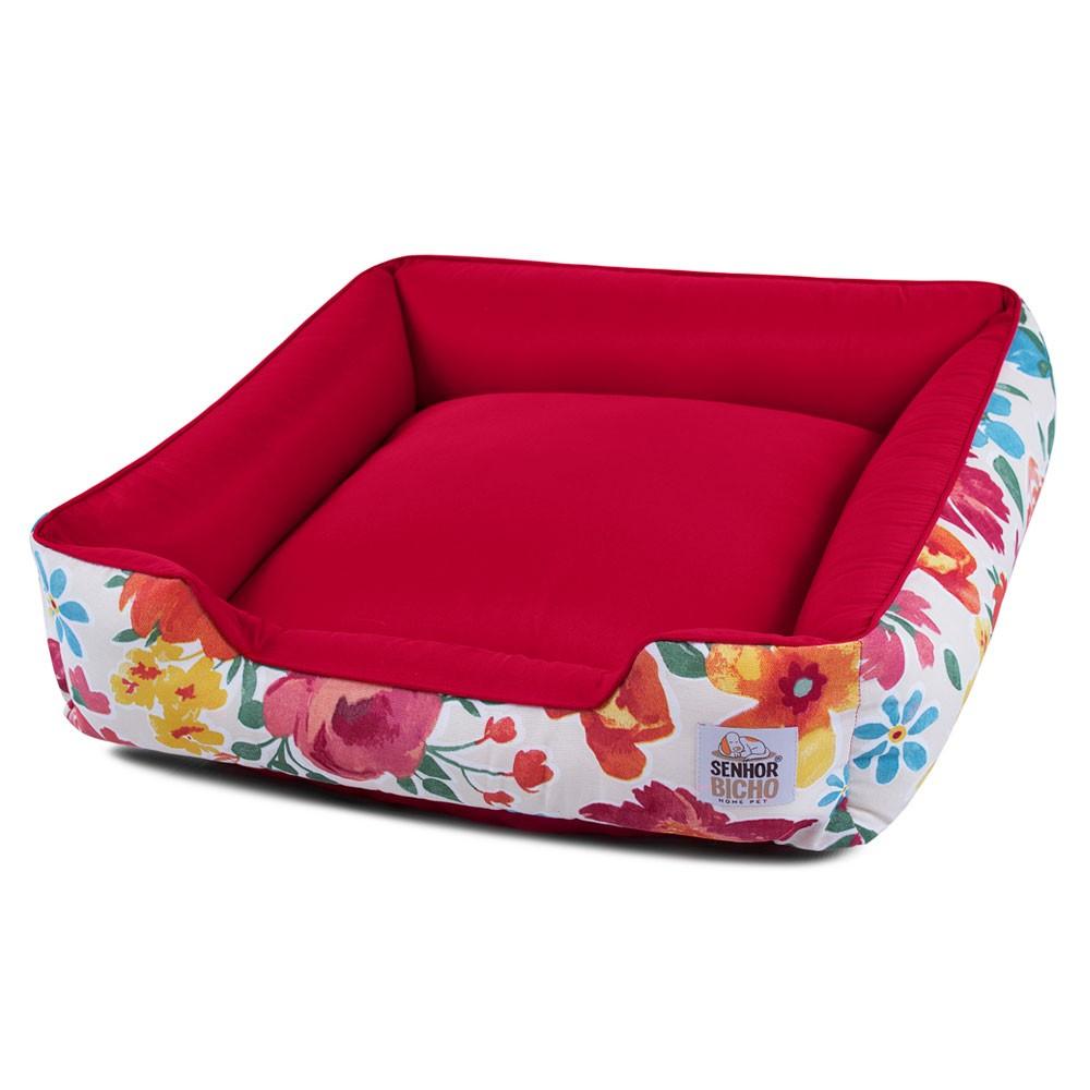 Cama de Cachorro com Zíper Pandora - M - Floral