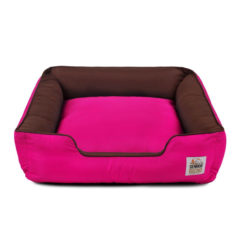 Cama de Cachorro com Zíper Pandora - P - Marrom Pink