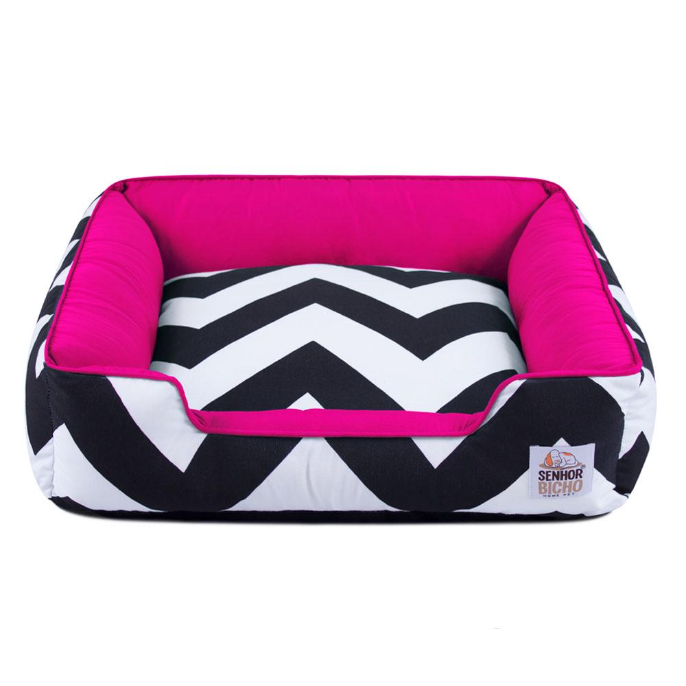 Cama de Cachorro com Zíper Pandora - P - ZigZag Pink