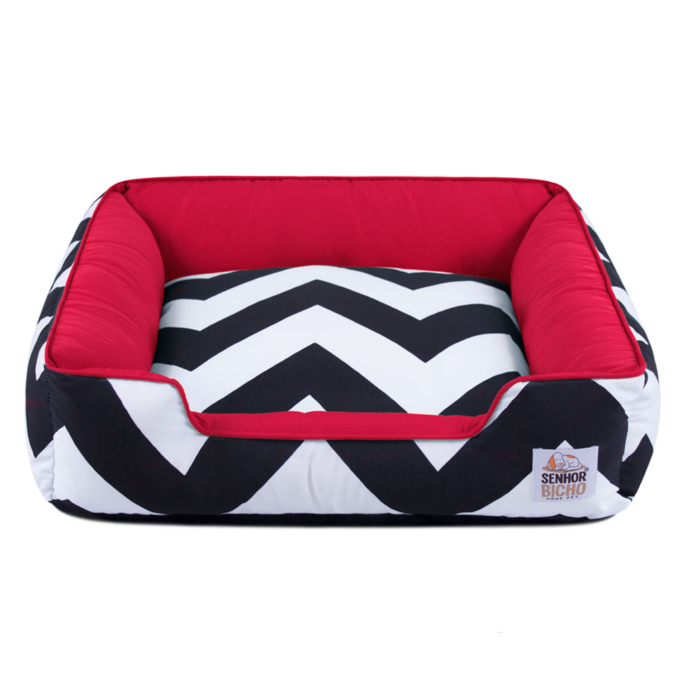 Cama de Cachorro com Zíper Pandora - P - ZigZag Vermelho