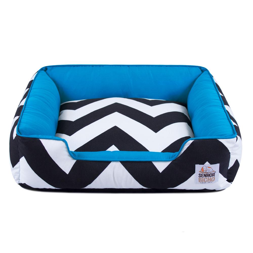 Cama de Cachorro com Zíper Pandora ZigZag Azul