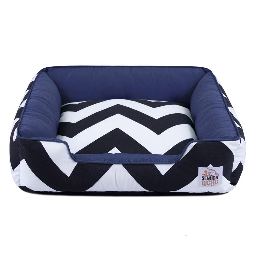 Cama de Cachorro com Zíper Pandora ZigZag Navy