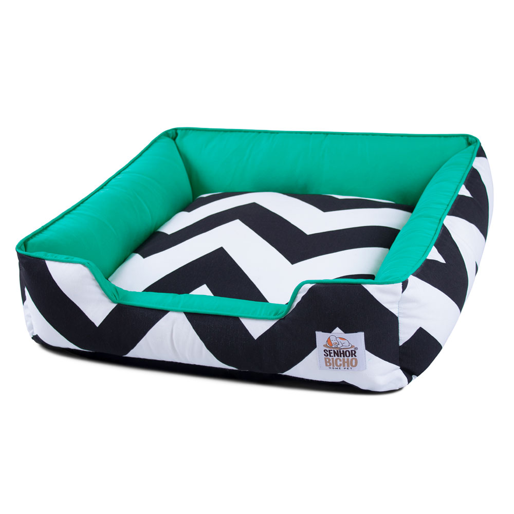 Cama de Cachorro com Zíper Pandora ZigZag Verde