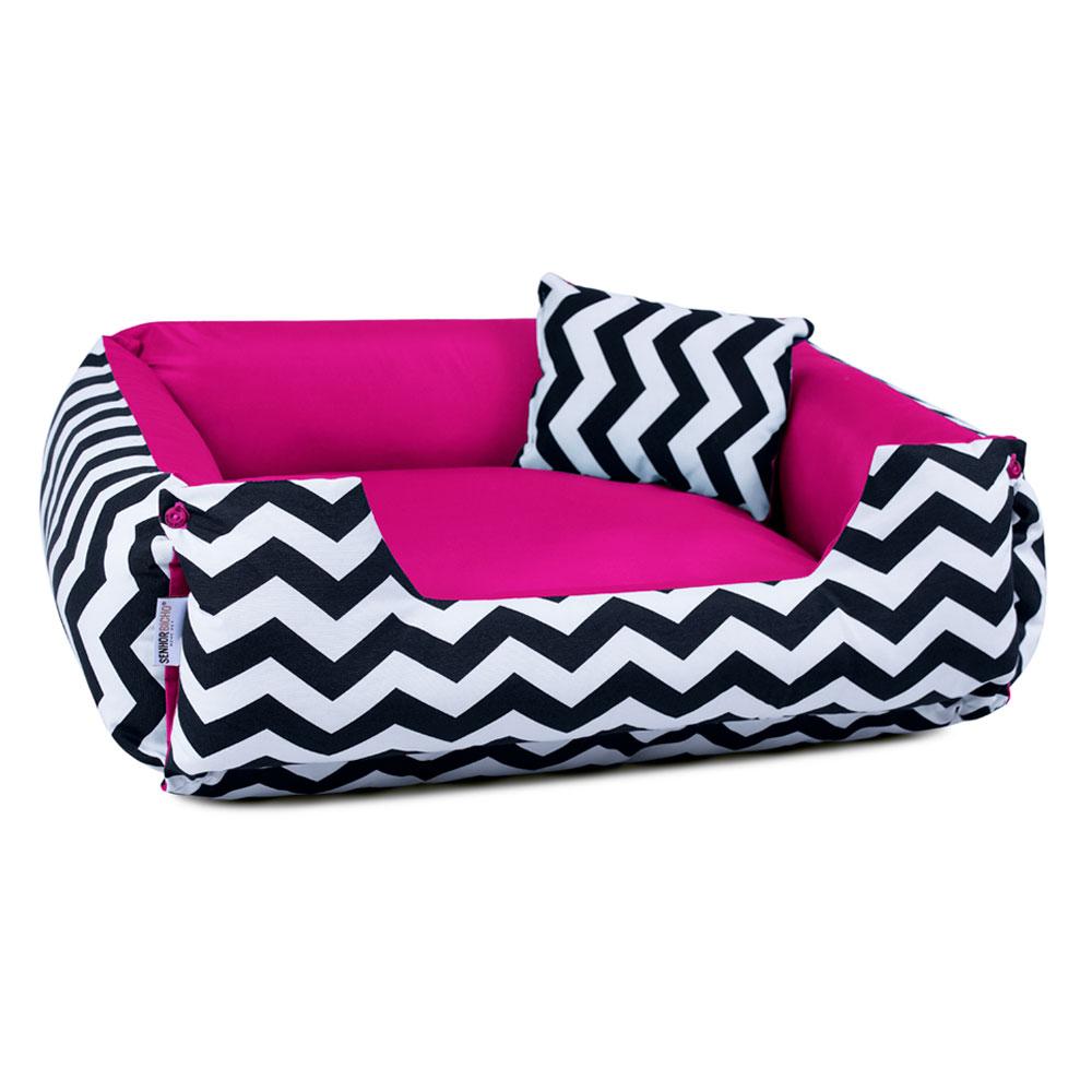 Cama de Cachorro Dupla Face Lola - EGG - Chevron Pink