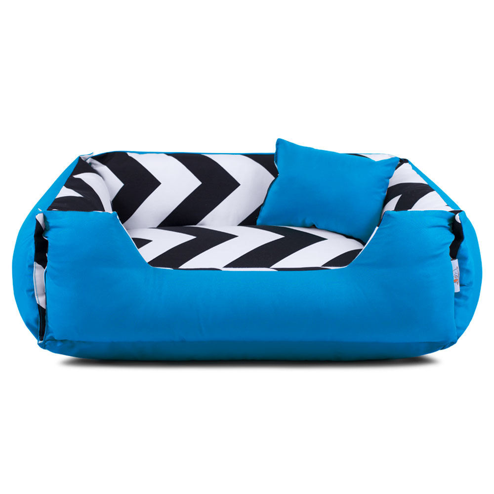 Cama de Cachorro Dupla Face Lola - G - ZigZag Azul