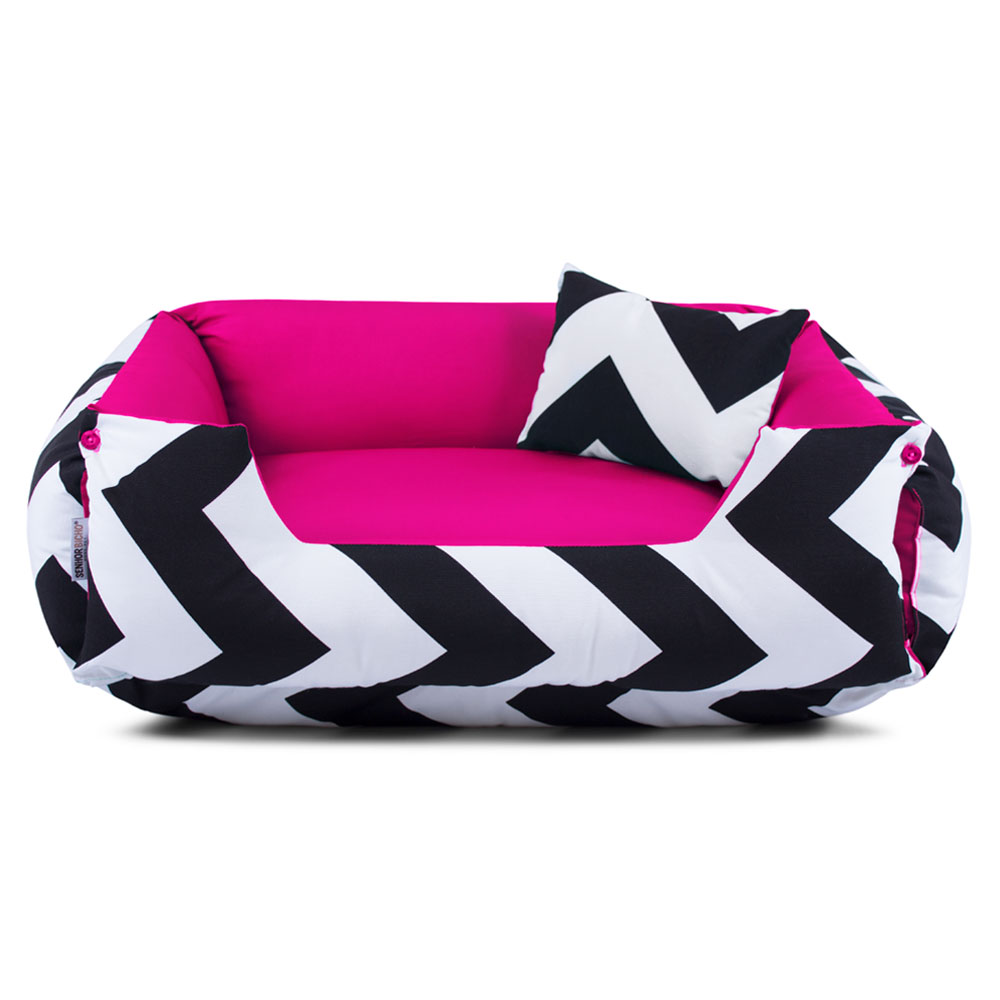 Cama de Cachorro Dupla Face Lola - G - ZigZag Pink
