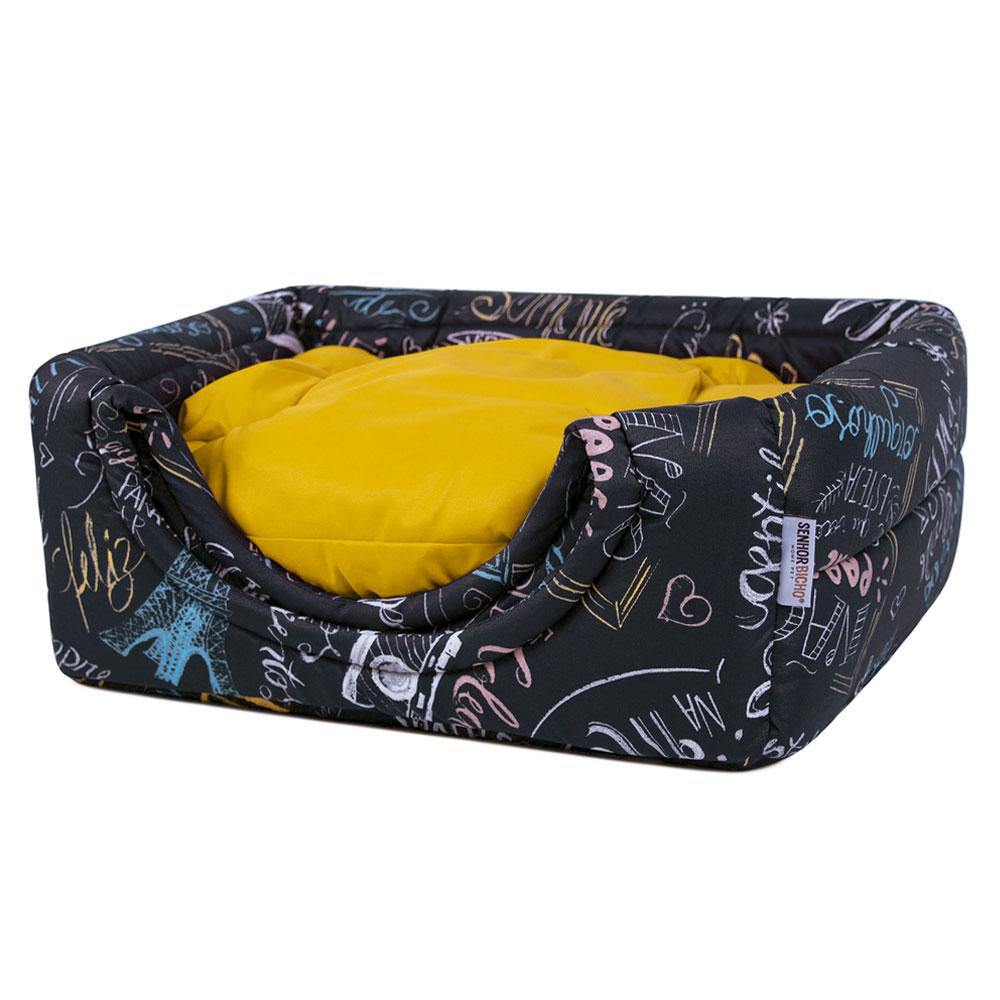 Cama de Cachorro Gato Toca Iglu Premium Lousa Amarelo