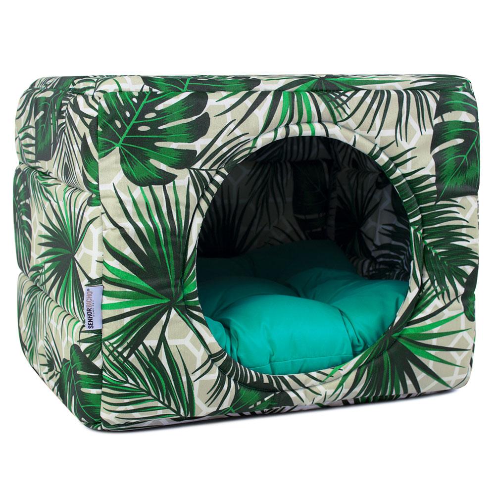 Cama de Cachorro Gato Toca Iglu Premium - M - Amazônia