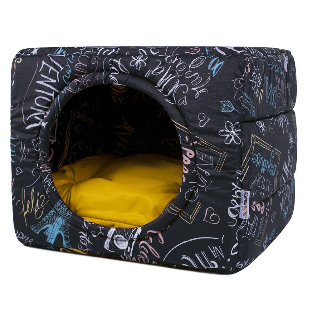 Cama de Cachorro Gato Toca Iglu Premium - P - Lousa Amarelo