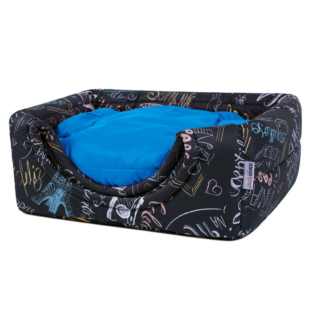 Cama de Cachorro Gato Toca Iglu Premium - P - Lousa Azul