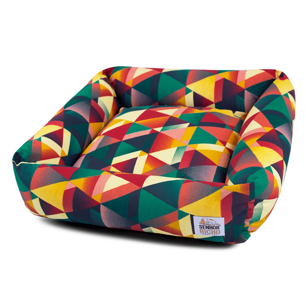 Cama de Cachorro Impermeável com Zíper Hanna - Especial 90x90 - Geometric