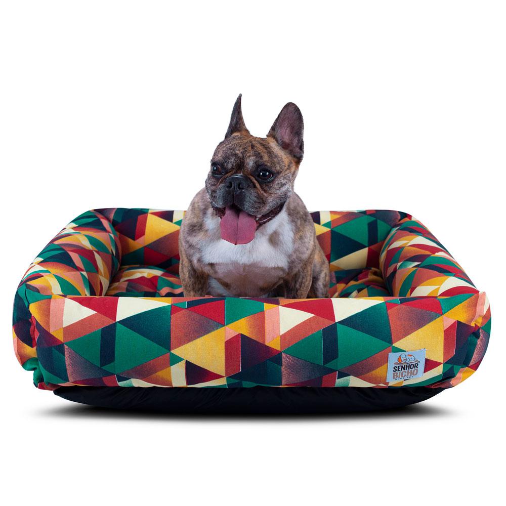 Cama de Cachorro Impermeável com Zíper Hanna - GG - Geometric