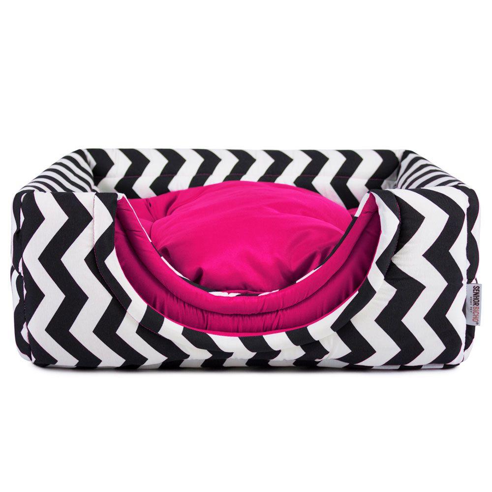 Cama de Cachorro Gato Toca Iglu - P - Chevron Pink