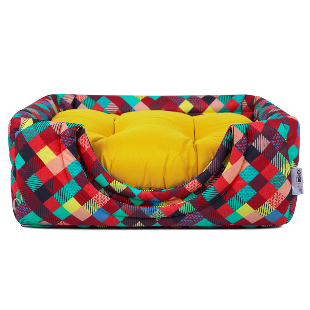 Cama de Cachorro Gato Toca Iglu Premium - P - Colors Amarelo
