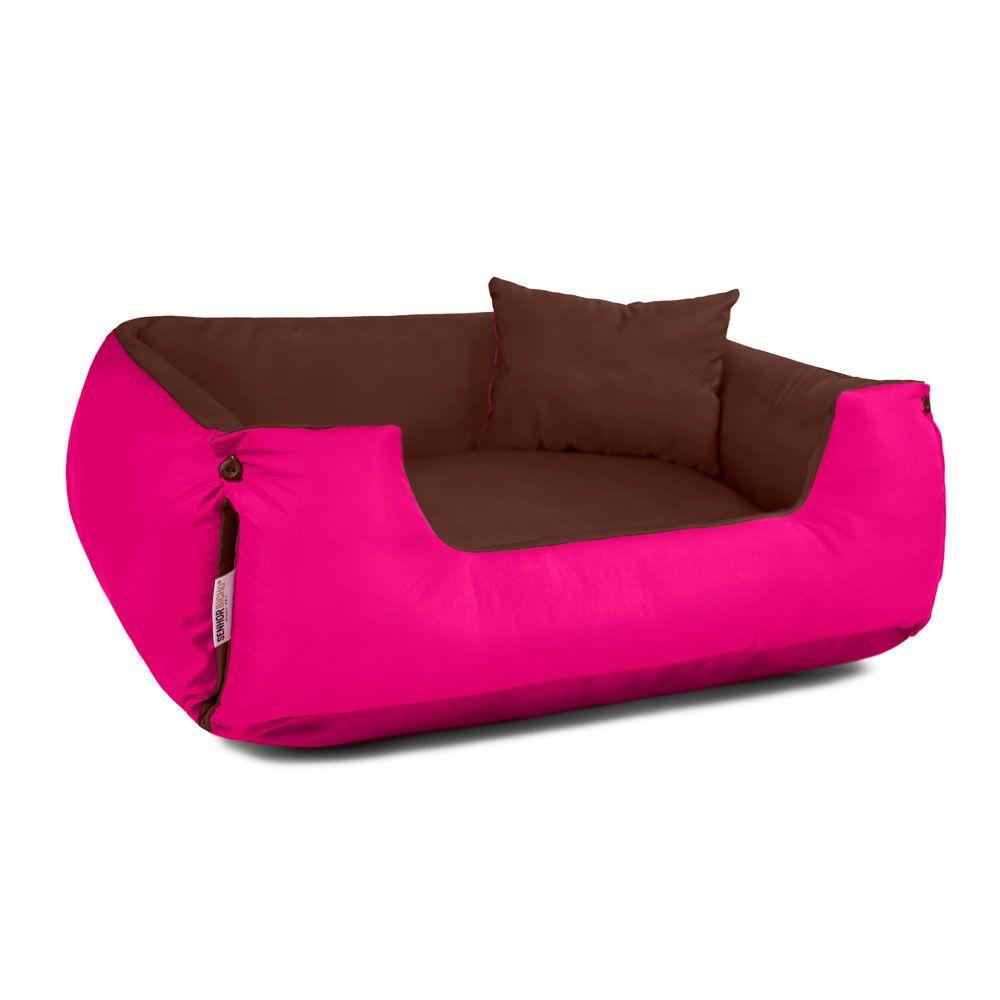 Cama de Cachorro Dupla Face Lola - P - Marrom Pink