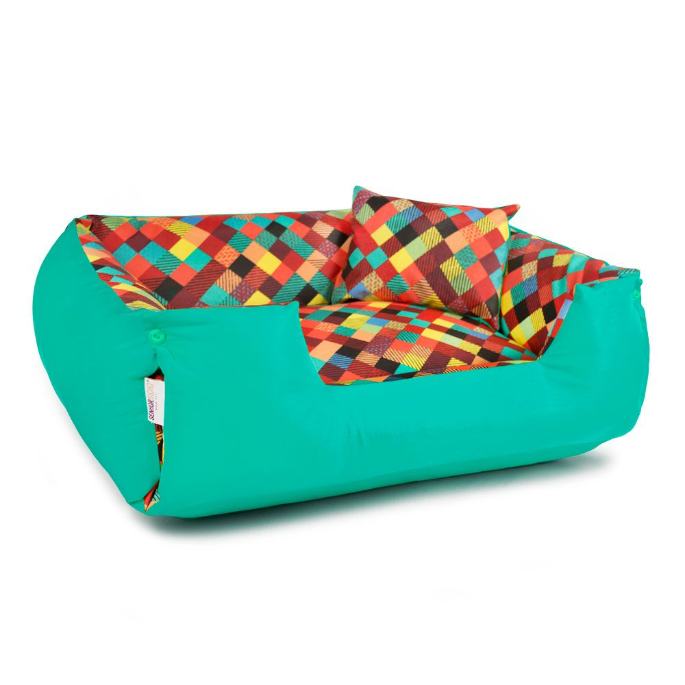 Cama de Cachorro Impermeável Lola Colors Verde