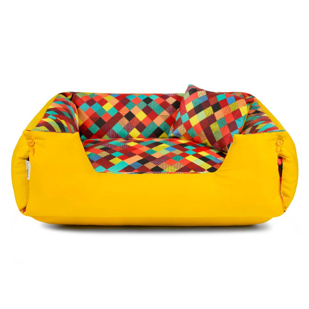 Cama de Cachorro Impermeável Lola - GG - Colors Amarelo