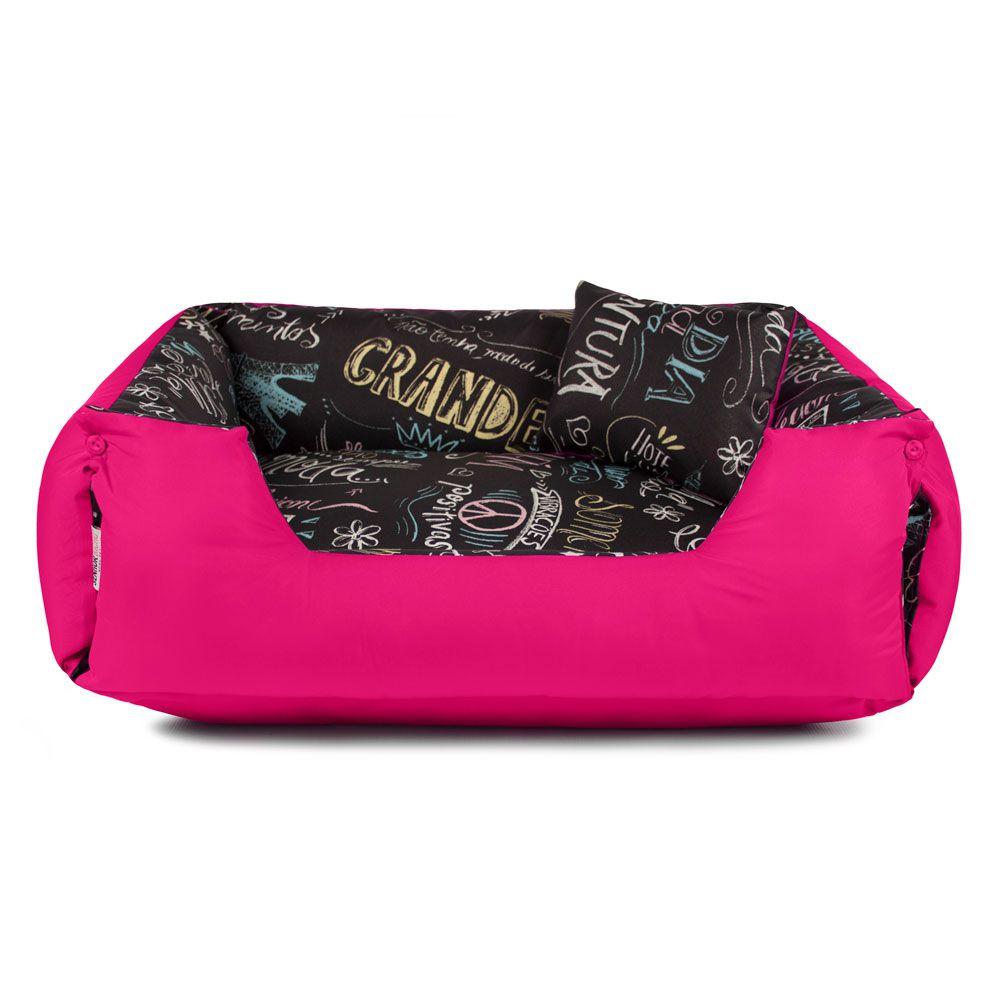 Cama de Cachorro Impermeável Lola - GG - Lousa Pink