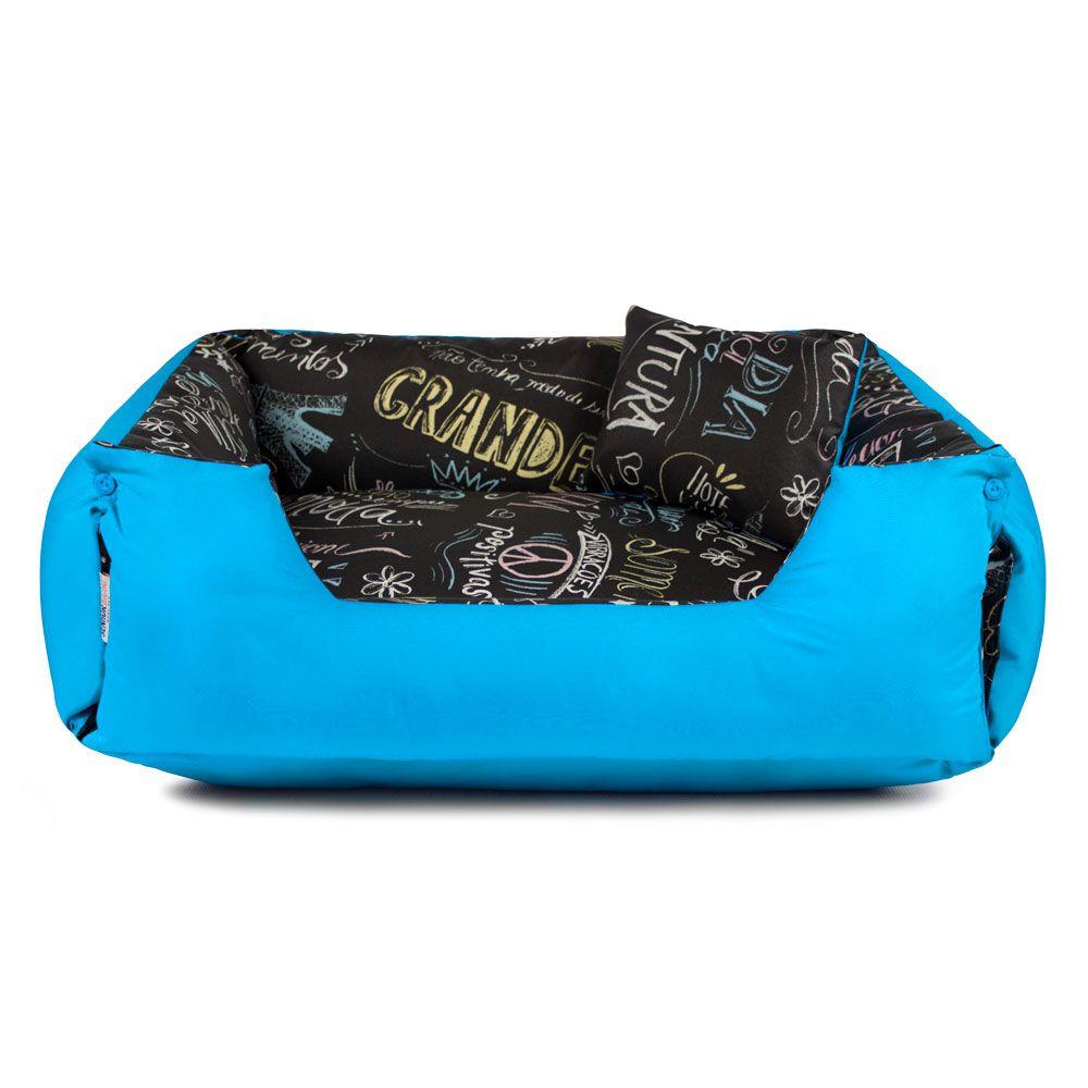 Cama de Cachorro Impermeável Lola Lousa Azul