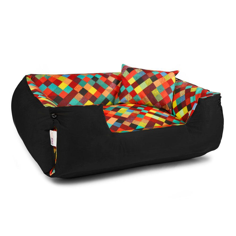 Cama de Cachorro Impermeável Lola - M - Colors Preto