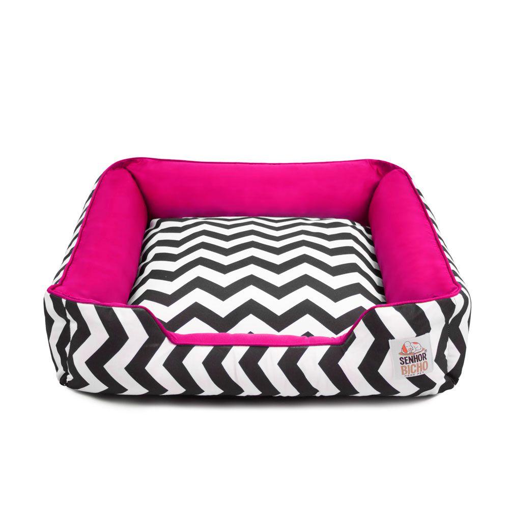 Cama de Cachorro com Zíper Pandora - G - Chevron Pink